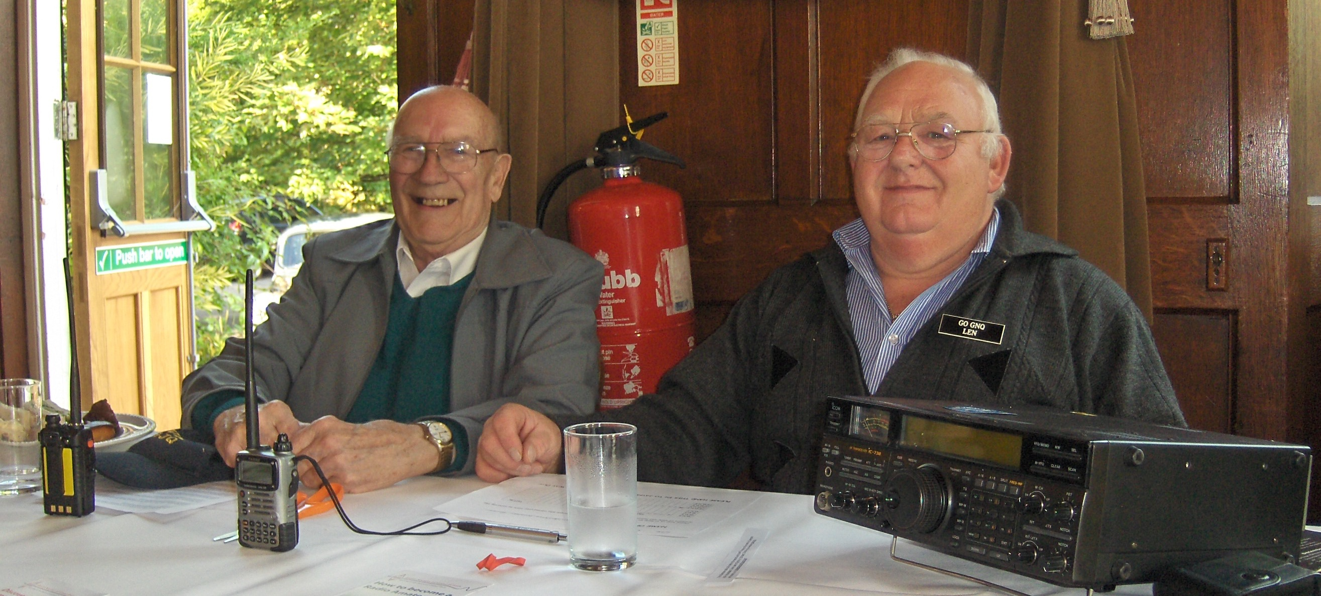 """ David and Len selling amateur radio"