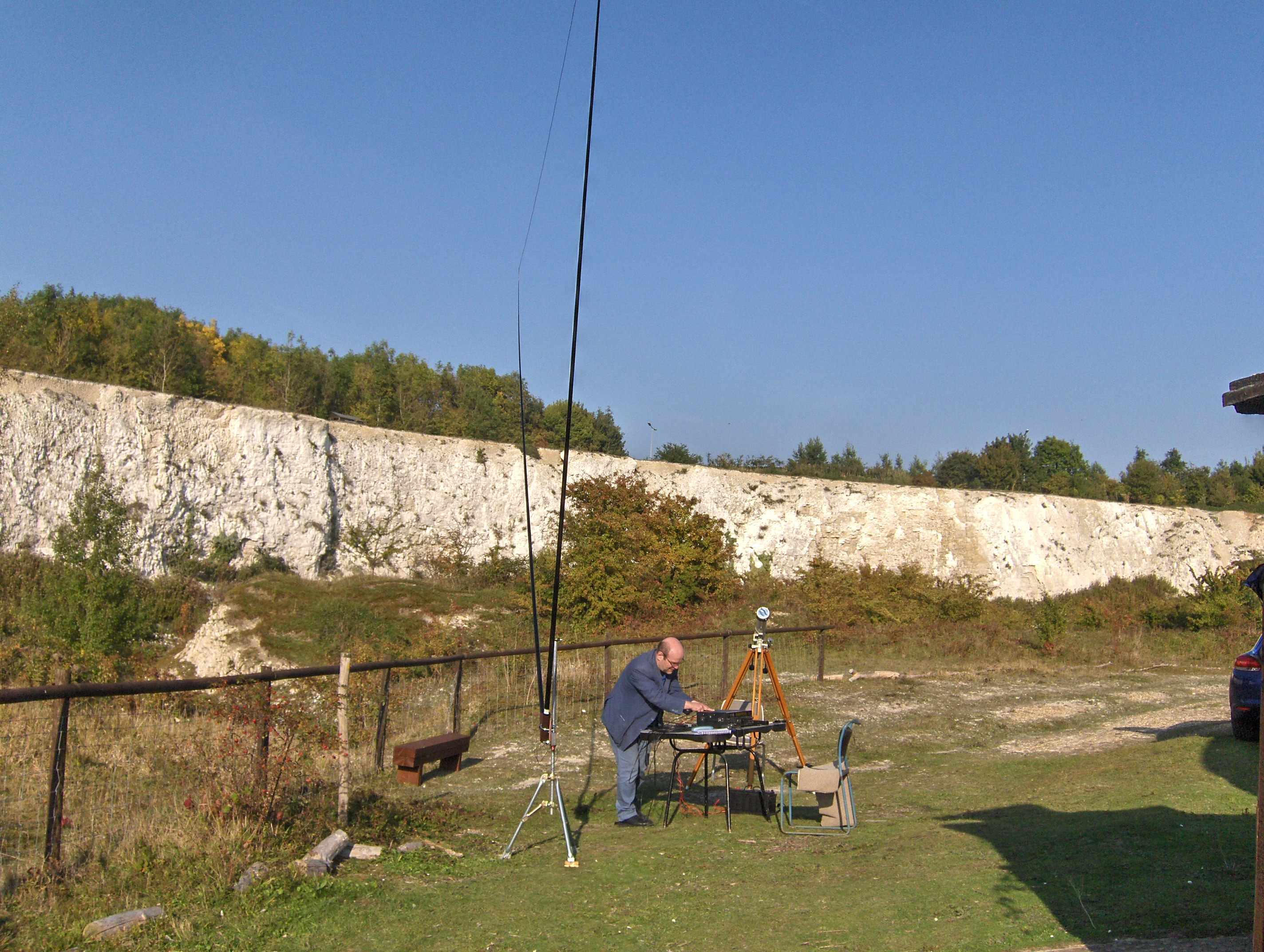 """ Andrew setting up the delta loop antenna"